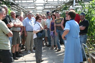 встреча немецких фермеров со специалистами агрономической службы хозяйства